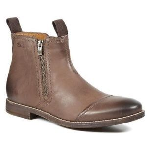 Clark's Novato Leather Boots Size 8.5